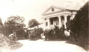 Jurbarko dvaro rūmai, sudegę per Pirmąjį pasaulinį karą. Nuotrauka iš Jurbarko krašto muziejaus archyvo